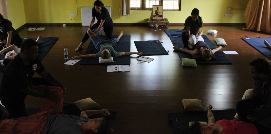 At the School of Thai Massage students get to work on instructors and not just students