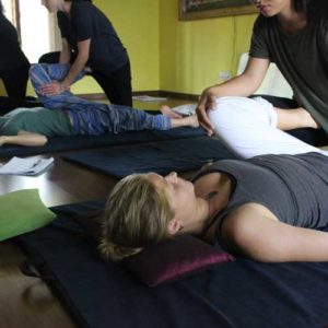 Every students will get each thai massage move demonstrated on them